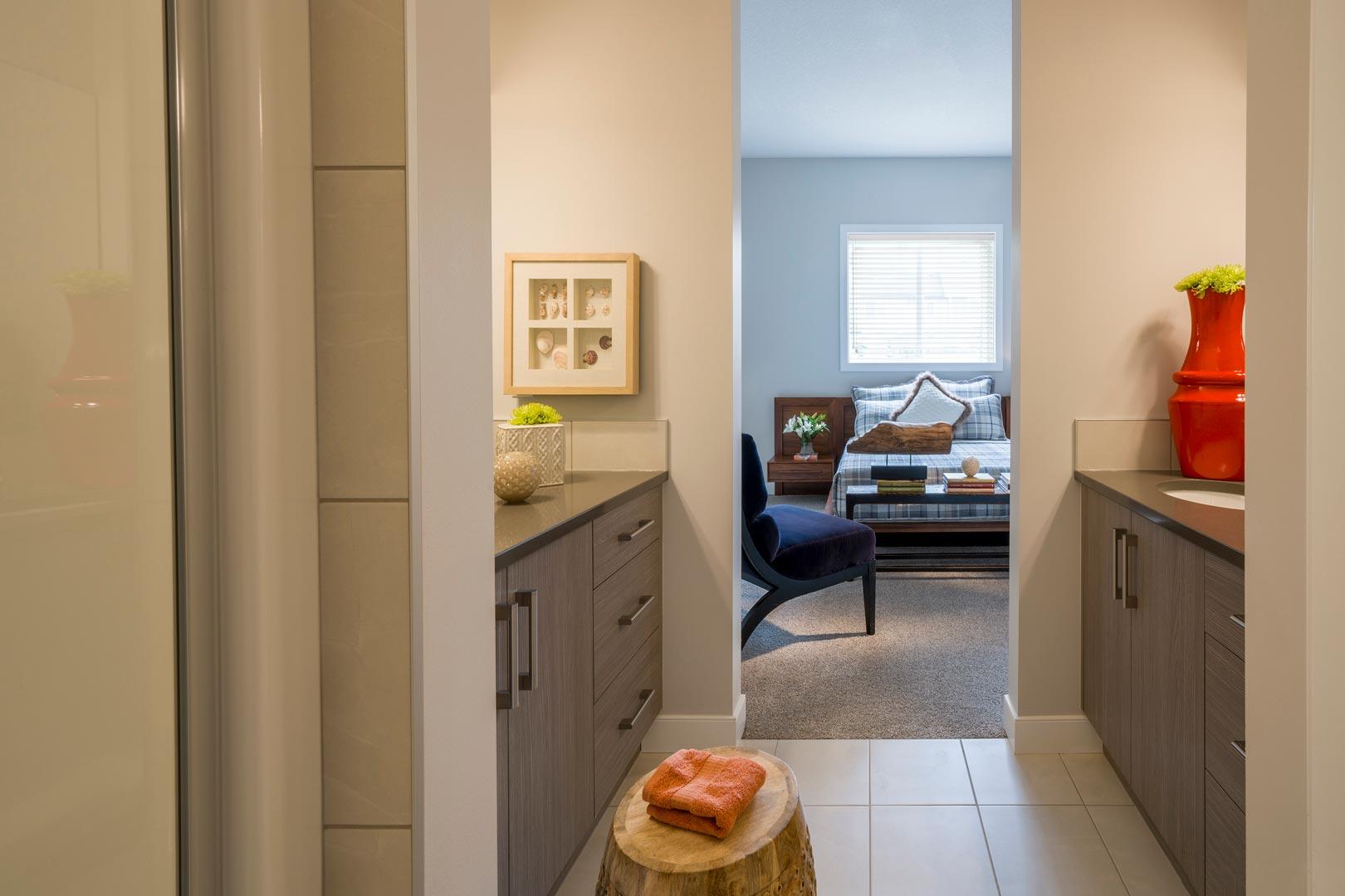 Douglas Homes Interior Image - Bathroom and Bedroom