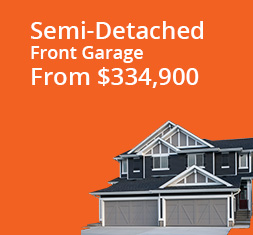 Semi-Detached Front-Garage from $334,900