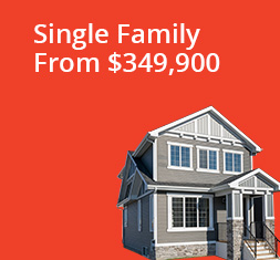 Single-Family Rear-Garage From $300,000