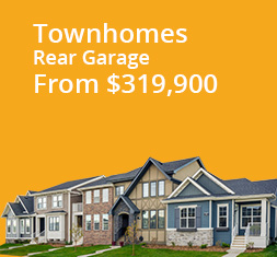 Townhouses Rear-Garage from $319,900